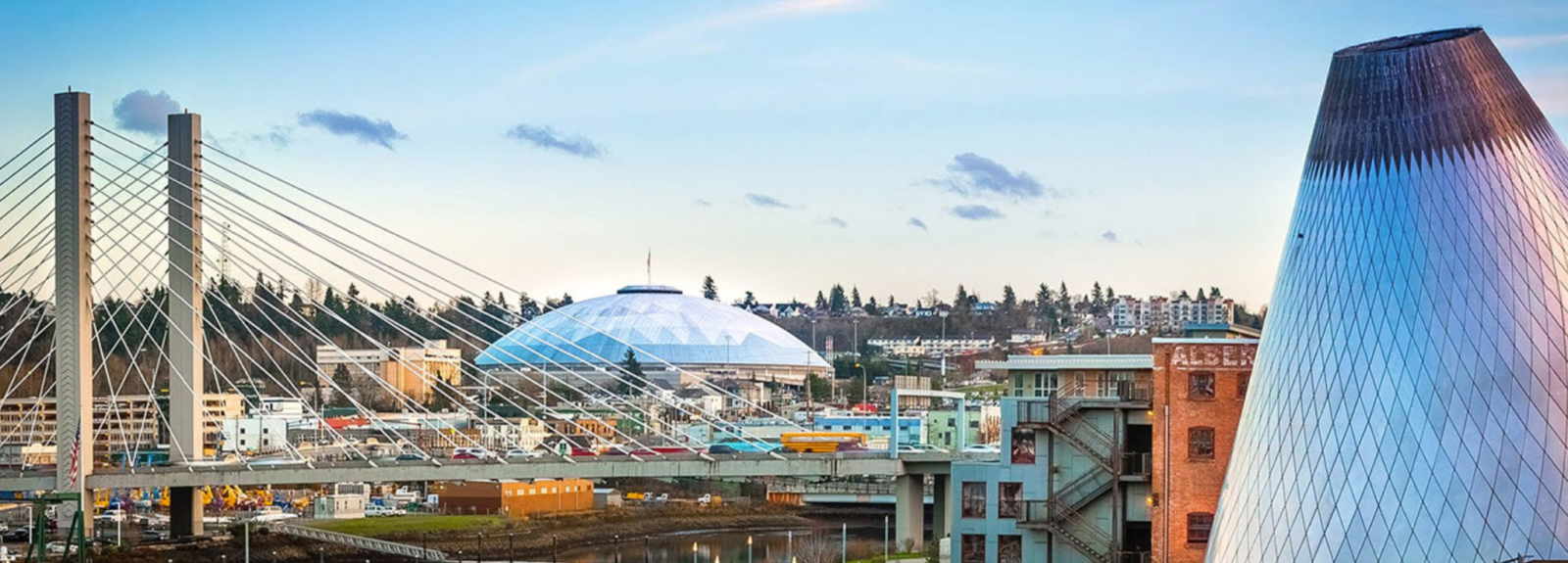 Website development placeholder image of downtown Tacoma